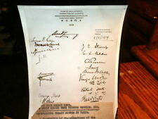 #8588,Orig.Henry Miller Photo,Reparations Treaty Signed in Paris,1929