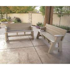 New listing 5ft. Outdoor Convert-a-Bench - Driftwood