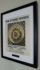 The Stone Roses-Framed Original NME-Plaque-Finsbury Park-NEW-RARE Ian Brown