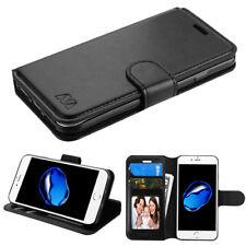 for Apple iPhone 7 Black MyJacket Wallet Flip Case Cover