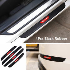 4Pcs Carbon Fiber Car SUV Door Sill Anti-kick Scratch Protector Strips Universal