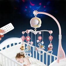 Baby Mobile für Kinderbett Krippe mit Licht und Musik pink+4 AA batterie
