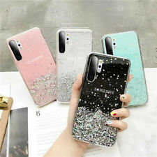 For Samsung Galaxy Note 20 Ultra S20 S10 S9 Clear Bling Glitter Soft Case Cover
