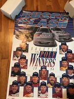 "NASCAR 1994 Poster 20""x 28"" Busch Clash Pole Winners ,Earnhardt ,Gordon"