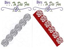 Dies ... to die for metal cutting craft die Rose flower card edge border die