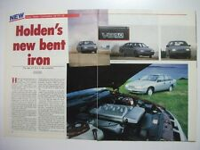HOLDEN VN V8 NEW BENT IRON PLUS HSV SV89 MAGAZINE PREVIEW & TEST DRIVE ARTICLE