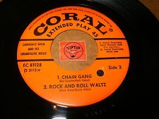 LAWRENCE WELK - CHAIN GANG - EP USA (NO COVER) / LISTEN - ROCK JAZZ POPCORN