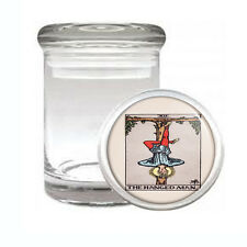 Tarot Card D13 ODORLESS AIR TIGHT MEDICAL GLASS JAR CONTAINER XII The Hanged Man