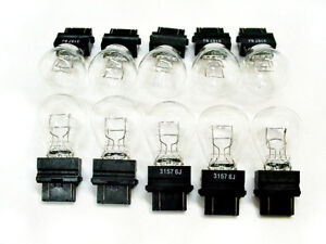 Box 10 Jeep 3157 Incandescent Brake Tail Light Turn Signal Bulbs Stop Lamps NOS