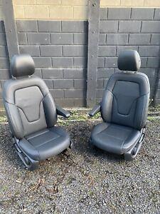Mercedes Vito V Class W447 Driver & Passenger Seat Black Nappa Leather 15- 2021