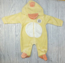 Baby Girl boys clothes all in one Duck suit yellow babygrow 0-3 m 3-6 m 6-9month