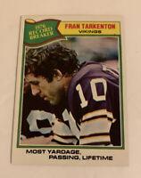 1977 Fran Tarkenton # 454 Minnesota Vikings Topps Football Card NFL HOF