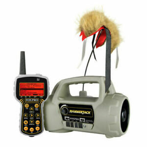 Foxpro HammerJack Predator Coyote Game Call W/Decoy & Remote 100 Sounds (Refurb)