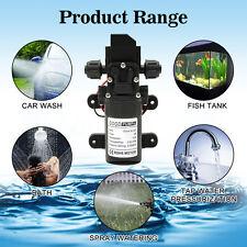 DC12V 70W 130PSI 6L/Min Water High Pressure Diaphragm Self Priming Pump FL-3308