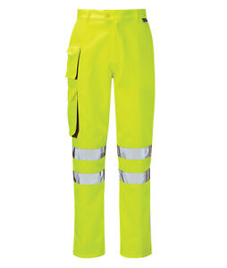 Hi Vis Hi Visibility Combat Trouser - Hi Viz Yellow - PCENCTR