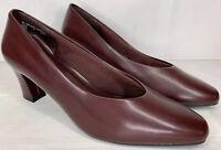 Vtg FANFARES Christy Womens Dress Shoes Heels Pumps Sz 8.5 Slip On Maroon