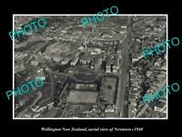 OLD LARGE HISTORIC PHOTO WELLINGTON NEW ZEALAND AERIAL VIEW OF NEWTOWN c1940