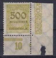 DR Mi Nr. 324 * UR mit PN 6, Infla Rosette Deutsches Reich 1923