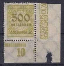 DR Mer n. 324 * UR con PN 6, inaspri rosette Deutsches Reich 1923