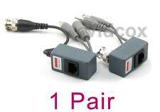 1 Pair (Video Power Audio) Balun BNC to Cat5e Cat6 UTP for CCTV Security Camera