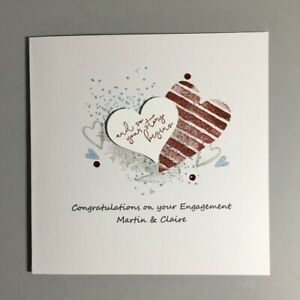 Handmade Personalised Engagement Card - Your Story Begins