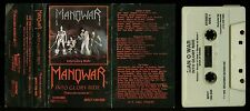 Manowar Into Glory Ride First Press white Tape 3 PANEL INLAY USA Cassette Tape