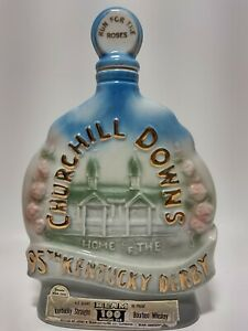 1969 Kentucky Derby Churchill Jim Beam Vintage Barware Decanter Bottle Empty