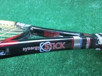 Tennis Prince Synergy Stick Longbody 110 Tennis Racquet Over Wrapped 4 3/8 Grip