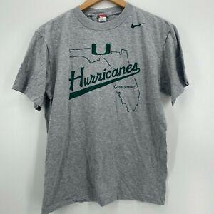 Nike T-Shirt Youth Size XL Gray Miami Hurricanes Coral Gable FL NCAA Boys