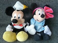 DISNEY Mickey Mouse LAUREA 2006 & Minnie Mouse Peluche Soft Toys circa 9""