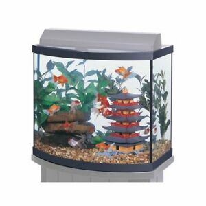Aqueon Bow Front Aquarium - Black - 26 gal AAG100118002