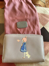 Gorgeous Grey Leather Large Radley Wallet Purse + Dustbag New