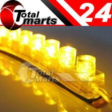 Top 2x 24cm 24 LED Car Flexible Strip Light Bulb Neon Waterproof  Yellow / Amber