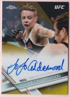 JOANNE CALDERWOOD 2017 TOPPS UFC CHROME GOLD REFRACTOR AUTO #06/50 AUTOGRAPH