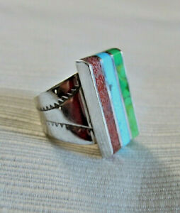 Jay King DTR Sterling Multi Color Gemstone Ring Size 7
