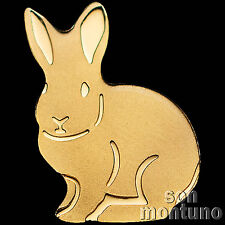 24K GOLD RABBIT - 1/2 Half Gram 11mm One Dollar Coin in Capsule + COA - PALAU