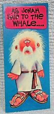 Old Retro Get Well Card American Greeting Jonah Whale Christian Humor FREE S/H