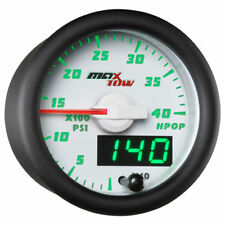 MaxTow 52mm White Double Vision High Pressure Oil Pressure HPOP Gauge - MT-WDV21