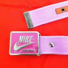 NEW W/TAG NIKE Sportswear PINK Enamel Belt Buckle & Pink Unisex Belt Sz. XL