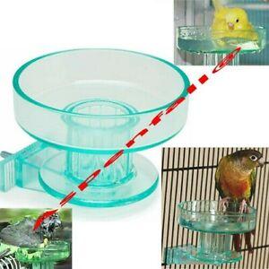 Quick Lock Bird Bath TINTED Indoor Lock On To Cage, Small & Medium Size Birds
