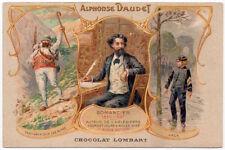 Advertising Postcard Chocolate Lombart Paris France Alphonse Daudet~107757