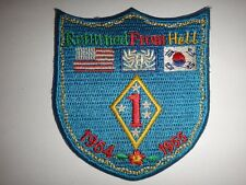 Korea War (1950-53) Patch Usmc 1st Marine Division Returned From Hell 1954-1955