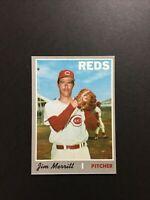 1970 Topps Jim Merritt Cincinnati Reds #616 - NM/MT From Vending