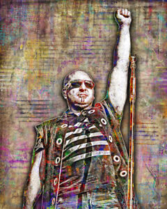 David Draiman of Disturbed 16x20in Poster, DISTURBED Tribute Art Free Shipping