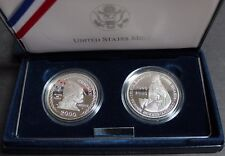 2000 US Iceland Proof Silver Two Coin Set Leif Ericson Millennium Commemorative