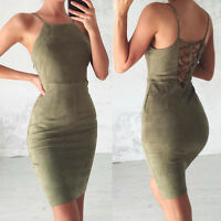 Sleeveless Bandage Women's Sexy Bodycon Dress Evening Party Cocktail Mini Dress