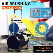 VIVOHOME Airbrush Compressor Kit Dual-Action Spray Gun Paint Tattoo Nail Art Set
