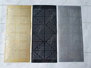 JEJE peel off sticker - classic corner gold / silver / black FREE P&P