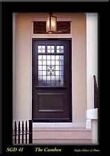 Victoria Exterior Front Door  Solid wood  & Stained glass panels