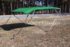 "New listing New Vortex Green 4 Bow Pontoon/Deck Boat Bimini Top 12' long 79-84"" wide"